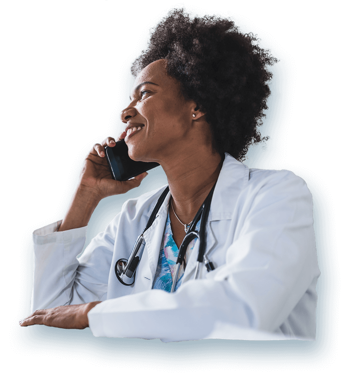 Thriving Doctors Services Doctor on the Phone